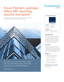 Forum Partners optimizes Office 365 reporting, security and spend