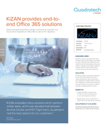 KiZAN leverages Quadrotech solutions to migrate archives and PSTs