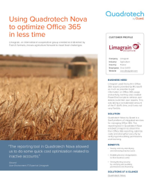 Limagrain uses Quadrotech Nova to streamline Office 365 reporting, optimize costs and strengthen security